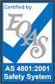 Certified by EQAS - AS4801:2001 Safety System